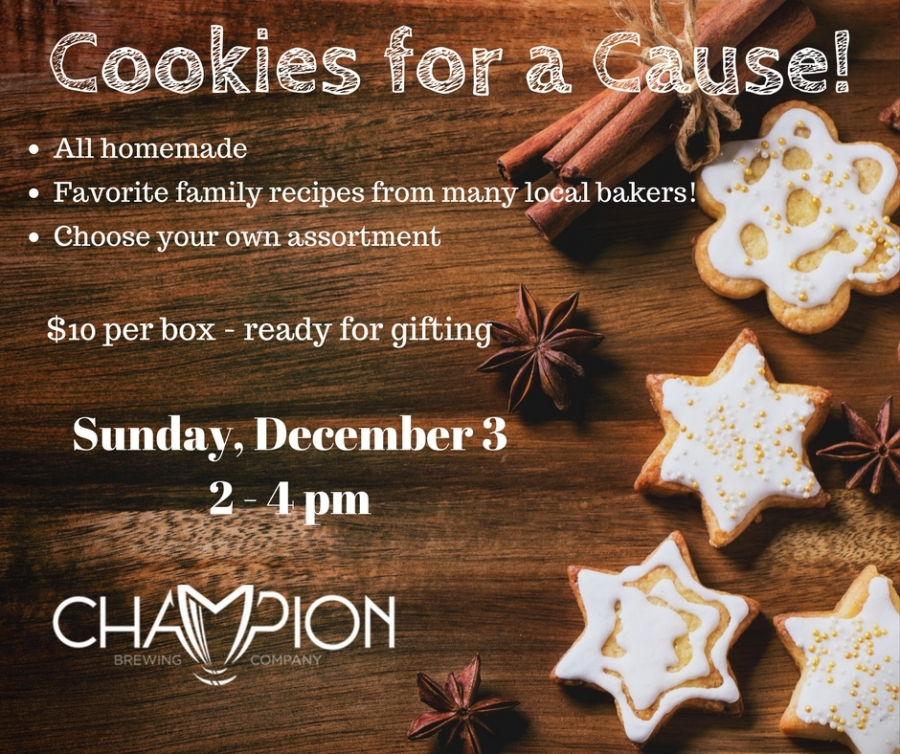 Cookies for a Cause in Charlottesville 12/3/17